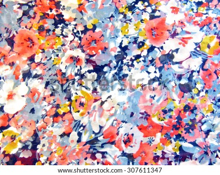 Colorful Fabric - Shutterstock ID 307611347