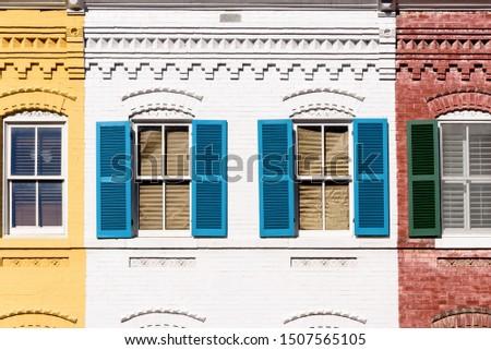 Colorful Facades, Georgetown, Washington DC