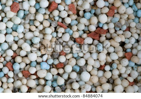 Colorful Fertilizer Pellets