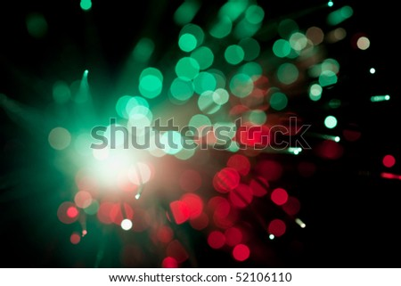 colorful fiber optic abstract background - stock photo