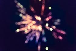 Colorful fireworks.bokeh blur