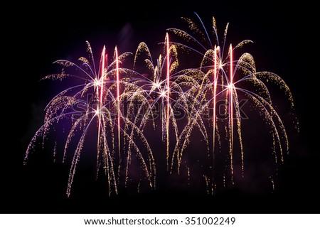 Colorful Fireworks display celebration #351002249