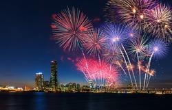 Colorful fireworks in Seoul ,South Korea