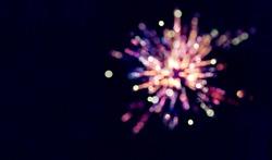 Colorful fireworks of celebration.bokeh blur