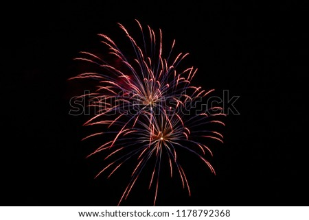 colorful fireworks silvester party