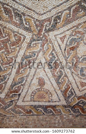 Colorful first century mosaics from Israel