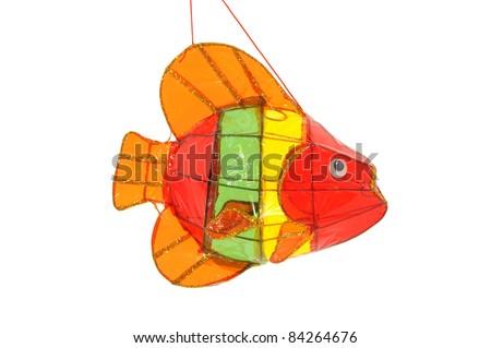 Colorful Fish Lantern Isolated On White Background