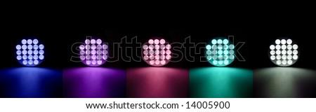 colorful flash lights