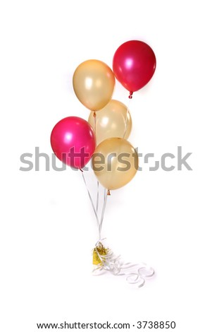 Colorful Floating balloons on a white background