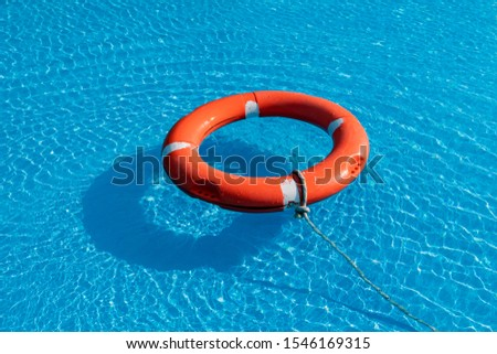 Colorful floats on a pool of crystal clear water #1546169315