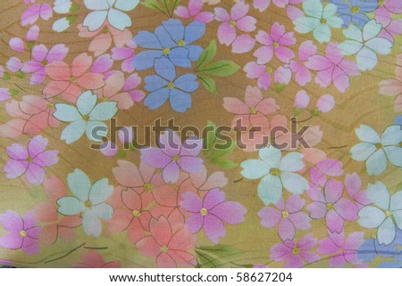 colorful flower fabric texture