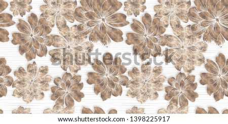colorful flower paints on white background digital art for home decoration abstract,ceramic digital wall tile,bathroom design,textile print and web page floral background.