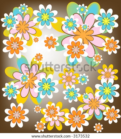 flower patterns backgrounds. stock photo : Colorful flower