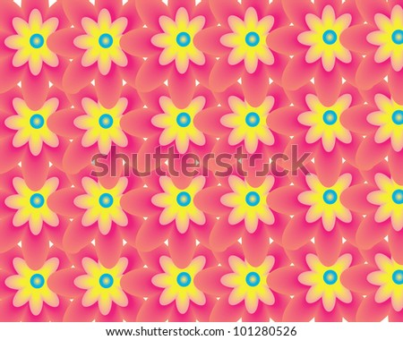 colorful flower pattern with lines, bottom spring, vector illustration