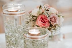 Colorful flower wedding center-piece decoration