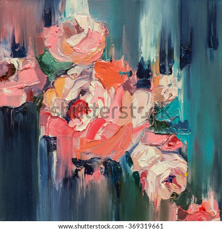 Colorful flowers\ Original oil painting