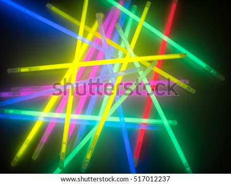 Colorful fluorescent light neon on black background  #517012237