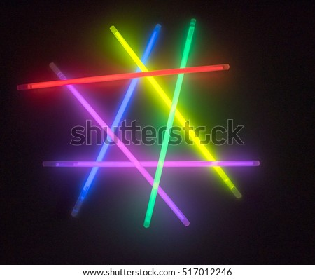 Colorful fluorescent light neon on black background  #517012246