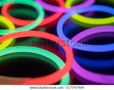 Colorful fluorescent light neon on black background  #517547464