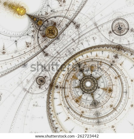 Colorful fractal clockwork, abstract gears digital artwork #262723442