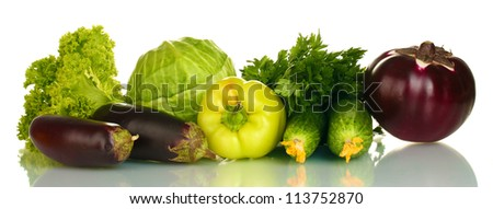 Colorful fresh vegetables isolated on white