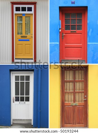 Colorful front door collection