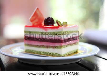colorful fruit cake