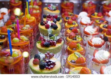 Colorful fruit deserts 01. See more in my portfolio