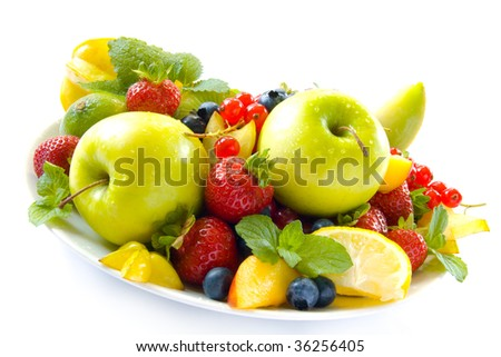 Colorful fruit in a bowl