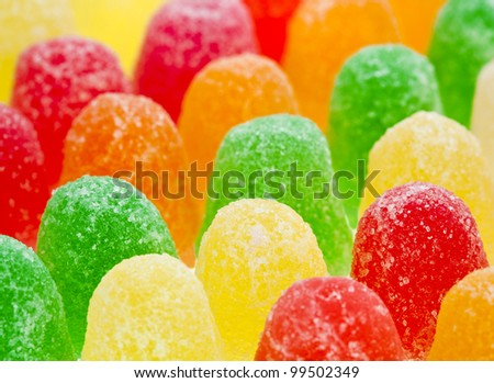 colorful  fruit jelly marmalade candies