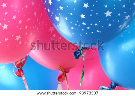 Colorful funny balloons.