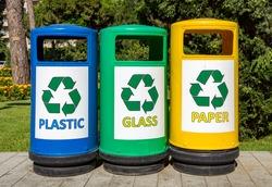 Colorful Garbage bins