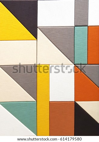 Colorful geometric abstract background #614179580