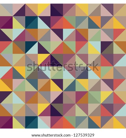 COLORFUL GEOMETRIC PATTERN. Triangle print design. For textile fabrics, wallpapers, background, warping paper, backdrop etc.