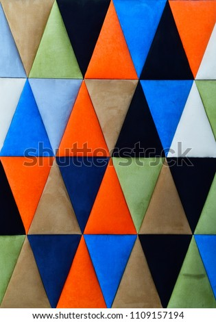Colorful geometric triangles background #1109157194