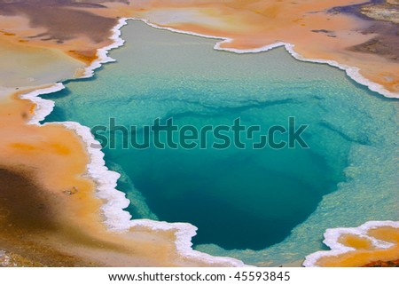 Colorful geyser in Yellowstone National park