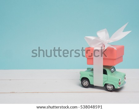 colorful gift box on color...