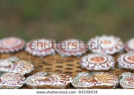 Colorful gingerbread arranged for sale