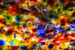 Colorful glass decoration