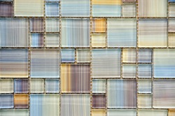 Colorful, glass, glossy mosaic tiles, background, texture