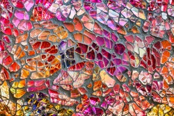 Colorful glass mosaic art and abstract wall background