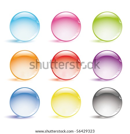 colorful glossy buttons.raster