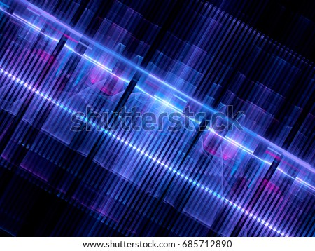 Colorful glowing futuristic hardware abstract background, computer generated, 3D rendering