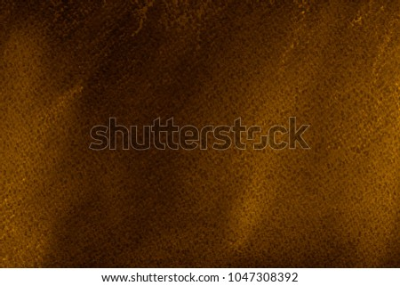 Colorful gold with yellow chalk pastel texture on white paper background. Abstract pencil strokes. #1047308392