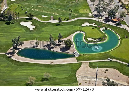 Colorful Golf Setting