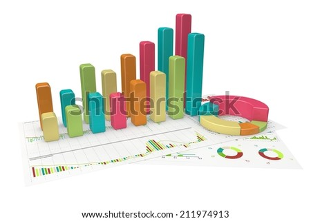 colorful Graphs of financial analysis - Isolated