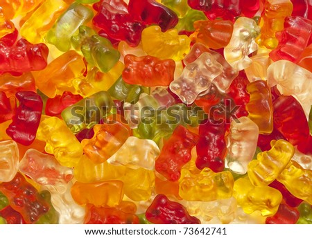 Colorful gummi candy as a background