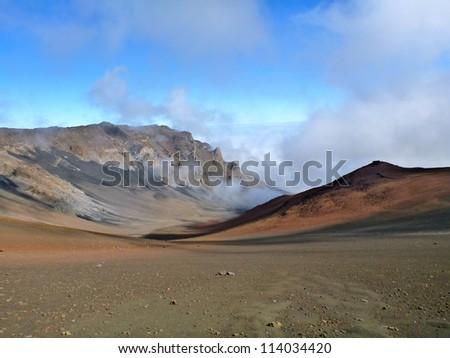 Colorful Haleakala Crater on Maui, Hawaii