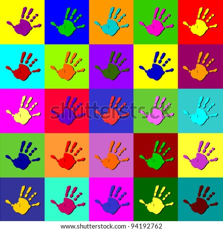 Colorful Hands Background Colorful Hand Background