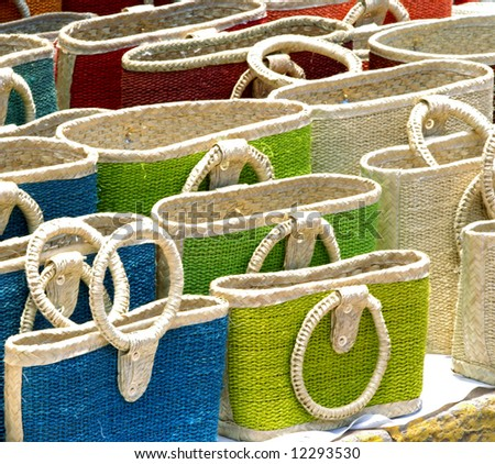 Colorful handmade bags